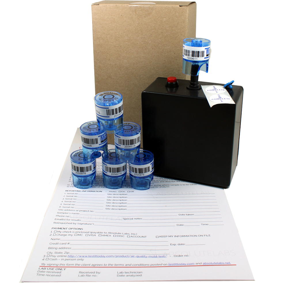 Air Quality Mold Test Kit   Measure Airborne Mold Spores in Your Air